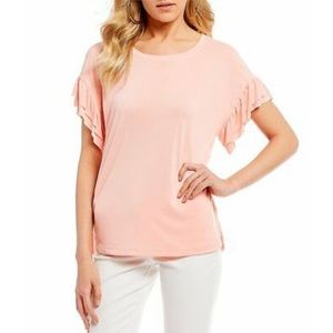NWT Jessica Simpson coral cloud olympia blouse top